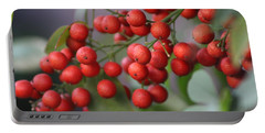 Ruby Red Berries Portable Battery Charger