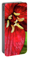 Ruby Red Trillium Portable Battery Charger