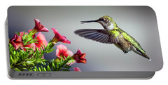 Ruby Throated Hummingbird #1 Portable Battery Charger