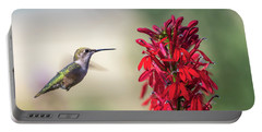 Ruby Throated Hummingbird 2017-2 Portable Battery Charger