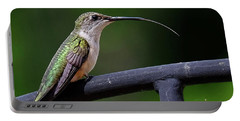 Ruby-throated Hummingbird Tongue Portable Battery Charger