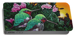 Ruby-throated Hummingbirds Portable Battery Charger
