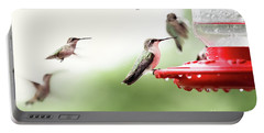Ruby-throated Hummingbirds Portable Battery Charger by Stephanie Frey