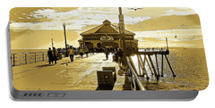Portable Battery Charger featuring the photograph Ruby's At The Pier by Everette McMahan jr
