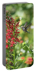 Rubythroated Hummingbird 2016-3 Portable Battery Charger by Thomas Young
