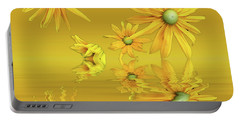 Portable Battery Charger featuring the photograph Rudbekia Yellow Flowers by David French