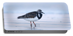 Portable Battery Charger featuring the photograph Ruddy Turnstone Sunset by John F Tsumas