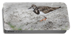 Ruddy Turnstone Foraging On The Beach Portable Battery Charger