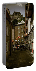 Rue Du Cul De Sac Portable Battery Charger by Chris Bordeleau