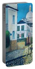 Rue Norvins, Paris Portable Battery Charger