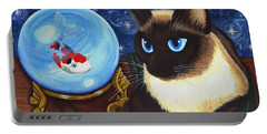 Rue Rue's Fortune - Siamese Cat Koi Portable Battery Charger