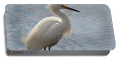 Ruffled Egret Portable Battery Charger