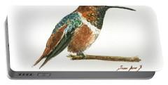 Rufous Hummingbird Watercolor Portable Battery Charger