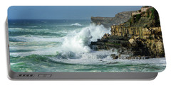 Rugged Coastal Seascape Portable Battery Charger by Marion McCristall