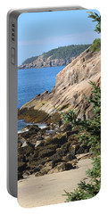 Rugged Coastline Portable Battery Charger by Living Color Photography Lorraine Lynch