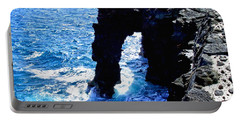 Portable Battery Charger featuring the photograph Rugged Kona Sea Arch by Amy McDaniel