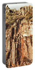 Rugged Vertical Cliff Face Portable Battery Charger