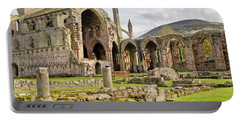 Ruins. Melrose Abbey. Portable Battery Charger