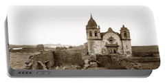 Ruins Of Carmel Mission, Monterey, Cal. Circa 1882 Portable Battery Charger
