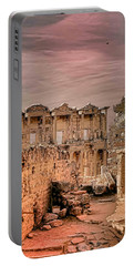 Ruins Of Ephesus Portable Battery Charger by Tom Prendergast