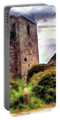 Ruins Of The Old Tin Mine Portable Battery Charger by Pennie  McCracken