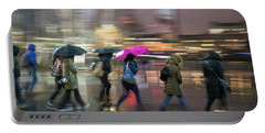 Run Between The Raindrops Portable Battery Charger
