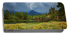 Portable Battery Charger featuring the photograph Run For Cover by Rick Furmanek