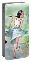 Portable Battery Charger featuring the digital art run by Jieming Wang