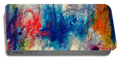 Portable Battery Charger featuring the painting Run Like The Wind by Tracy Bonin