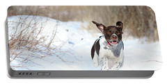 Run Millie Run Portable Battery Charger by Brook Burling