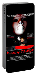 Runaway Terror Poster Portable Battery Charger