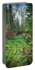 Running Creek In Woods - Spring At Retzer Nature Center Portable Battery Charger by Jennifer Rondinelli Reilly - Fine Art Photography