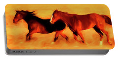 Running Horses 01 Portable Battery Charger