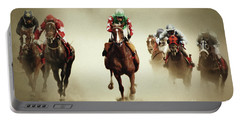 Running Horses In Dust Portable Battery Charger