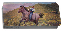 Runaway Roan Portable Battery Charger