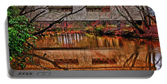 Running Waters Covered Bridge 025 Portable Battery Charger by George Bostian