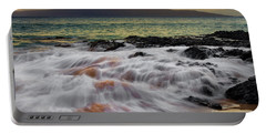 Running Wave At Keawakapu Beach Portable Battery Charger