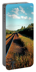 Rural Country Side Train Tracks Portable Battery Charger