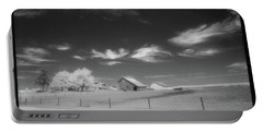 Rural Landscape, Black And White Infrared Portable Battery Charger