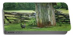 Portable Battery Charger featuring the photograph Rural Outhouse by Nikolyn McDonald