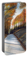 Rural Route In Autumn Portable Battery Charger