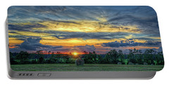 Portable Battery Charger featuring the photograph Rural Sunset by Lewis Mann