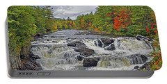 Portable Battery Charger featuring the photograph Rushing Towards Fall by Glenn Gordon
