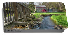 Rushing Water At The Grist Mill Portable Battery Charger