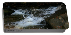 Rushing Water Portable Battery Charger by Cathy Harper