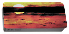 Russet Sunset Portable Battery Charger by Paula Ayers