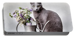 Russian Blue 02 Portable Battery Charger