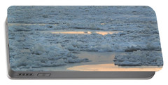 Russian Waterway Frozen Over Portable Battery Charger by Margaret Brooks