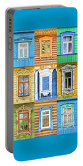 Portable Battery Charger featuring the photograph Russian Windows by Delphimages Photo Creations