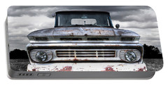 Rust And Proud - 62 Chevy Fleetside Portable Battery Charger